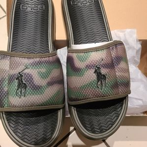 Polo Ralph Lauren slides camo new in box size 12
